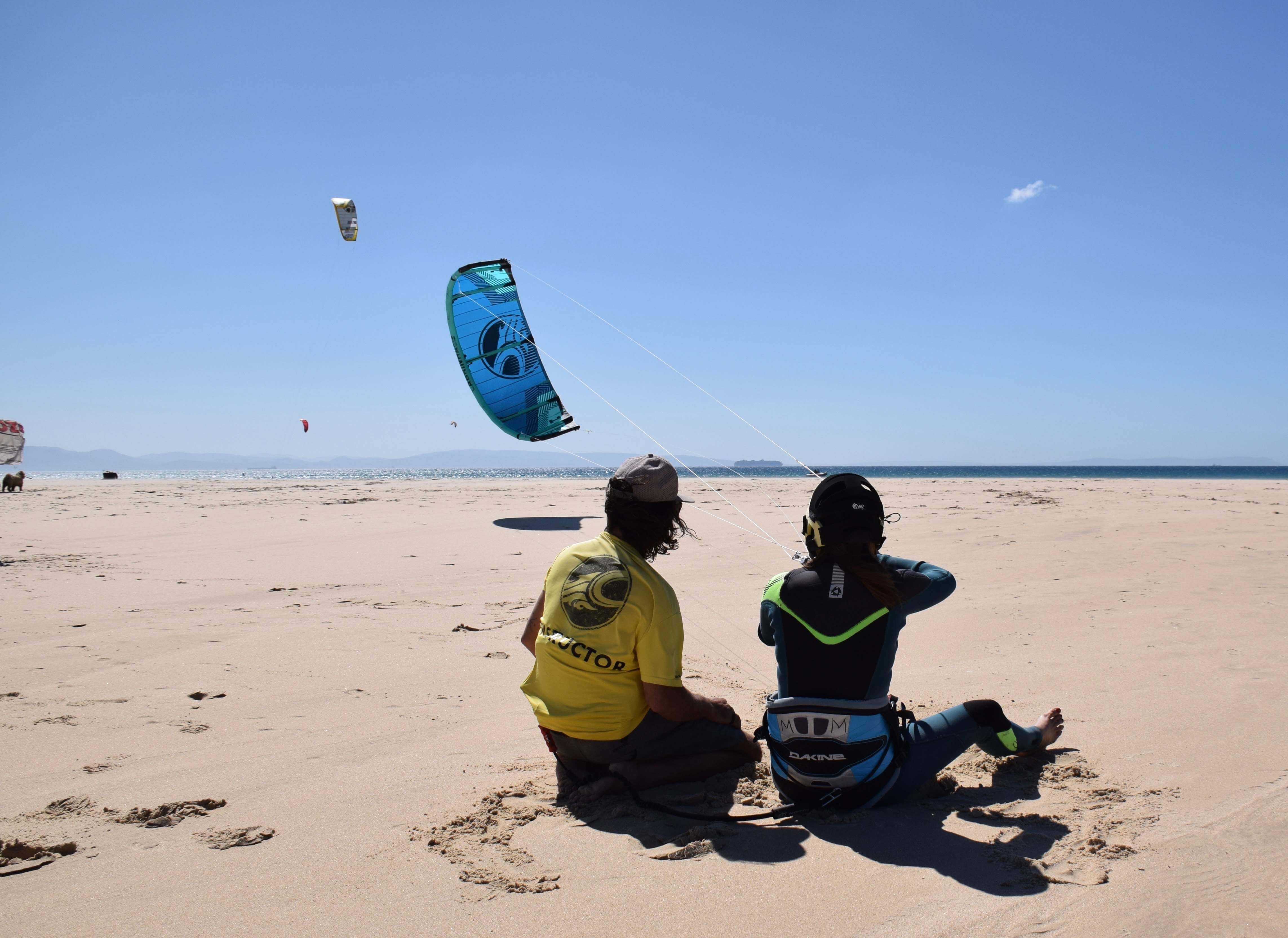 Curso de kitesurf en tarifa Iniciacion